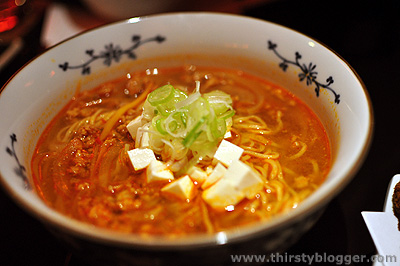 mapo tofu ramen Izumi Sake Bar: Because The Night Is Young
